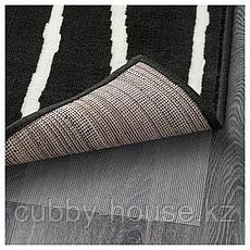 ГЁРЛЁСЕ Ковер, короткий ворс, черный/белый, 133x195 см, фото 3
