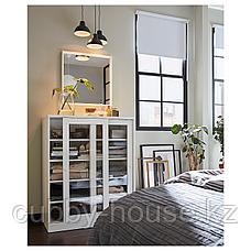 СЮВДЕ Шкаф со стеклянными дверцами, белый, 100x123 см, фото 2