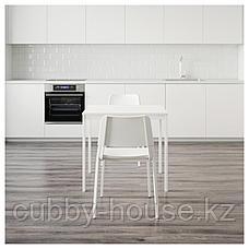 ВАНГСТА / ТЕОДОРЕС Стол и 2 стула, белый, белый, 80/120 см, фото 2