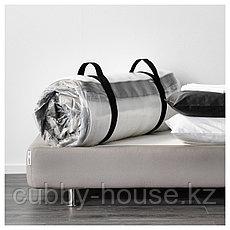 ХАВЁЙСУНД Матрас с пружинами карманного типа, жесткий, темно-бежевый, 180x200 см, фото 3