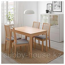 ЭКЕДАЛЕН Раздвижной стол, дуб, 120/180x80 см, фото 3