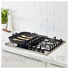 ГРИЛЛА Сковорода для гриля, черный, 36x26 см, фото 3
