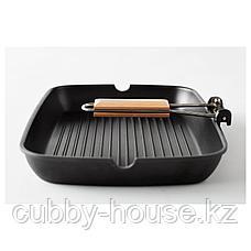 ГРИЛЛА Сковорода для гриля, черный, 36x26 см, фото 2