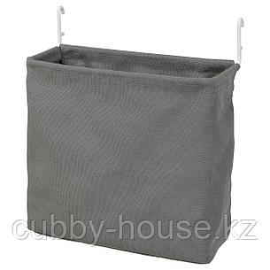 СКОДИС Текстильный контейнер, белый, серый, фото 2