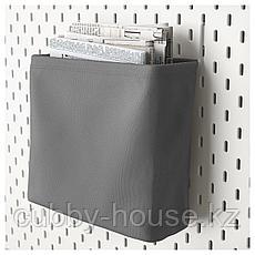 СКОДИС Текстильный контейнер, белый, серый, фото 3