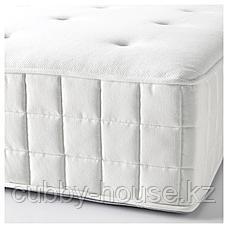 ХИЛЛЕСТАД Матрас с пружинами карманного типа, жесткий, белый, 140x200 см, фото 3