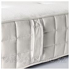 ХИЛЛЕСТАД Матрас с пружинами карманного типа, жесткий, белый, 140x200 см, фото 2