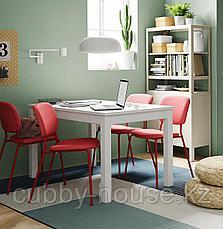 ЛАНЕБЕРГ Раздвижной стол, белый, 130/190x80 см, фото 2