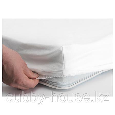 ЛЕН Простыня натяжн для кроватки, белый, 60x120 см, фото 2