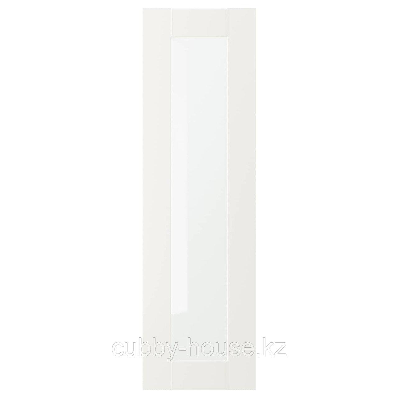 СЭВЕДАЛЬ Стеклянная дверь, белый, 30x60 см