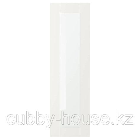 СЭВЕДАЛЬ Стеклянная дверь, белый, 30x60 см, фото 2