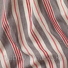 БЕРГСКРАББА Гардины, 1 пара, серый, красный в полоску, 145x300 см, фото 2