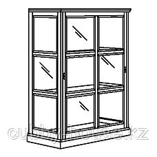 МАЛЬШЁ Шкаф-витрина, черная морилка, 103x48x141 см, фото 3
