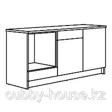 КНОКСХУЛЬТ Напольный шкаф с дверцами и ящиком, белый, 180 см, фото 2