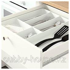 КНОКСХУЛЬТ Напольный шкаф с дверцами и ящиком, белый, 180 см, фото 3