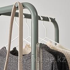 НИККЕБИ Напольная вешалка, серо-зеленый, 45x170 см, фото 3
