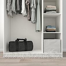 КЛЕППСТАД Гардероб 3-дверный, белый, 117x176 см, фото 3