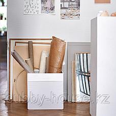 ДРЁНА Коробка, белый, 33x38x33 см, фото 3