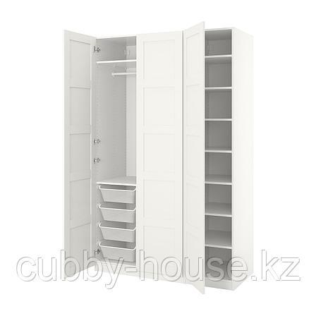 ПАКС Гардероб, белый, Бергсбу белый, 150x60x201 см, фото 2