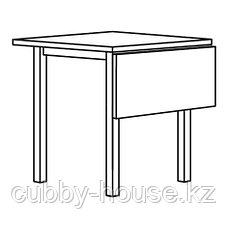 НОРДВИКЕН Стол с откидной полой, черный, 74/104x74 см, фото 2