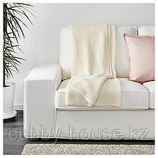 ИГАБРИТТА Плед, белый с оттенком, 130x170 см, фото 3