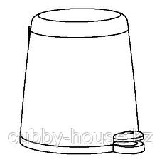 СНЭПП Ведро с откидной крышкой, белый, 12 л, фото 2