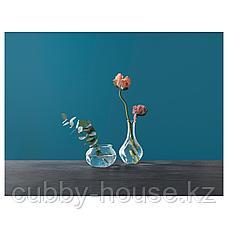ВИЛЬЕСТАРК Ваза, прозрачное стекло, 17 см, фото 3