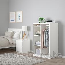 СЮВДЕ Открытый гардероб, белый, 80x123 см, фото 3