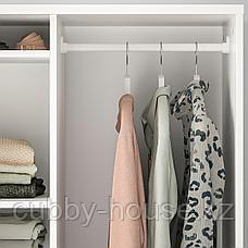 СЮВДЕ Открытый гардероб, белый, 80x123 см, фото 2