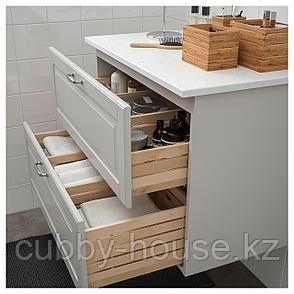 ГОДМОРГОН / ТОЛКЕН Шкаф для раковины с 2 ящ, Кашён светло-серый, под мрамор, 82x49x60 см, фото 2