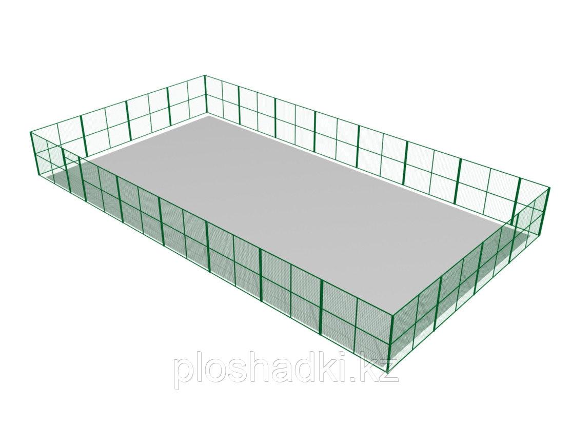 Ограждение баскетбольной площадки металлическое