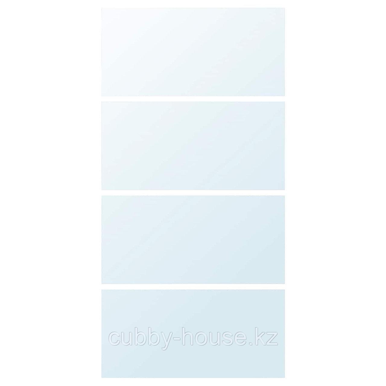 АУЛИ 4 панели д/рамы раздвижной дверцы, зеркальное стекло, 75x201 см