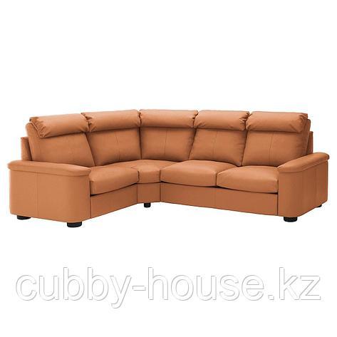 ЛИДГУЛЬТ 4-местный угловой диван, Гранн/Бумстад темно-коричневый, фото 2