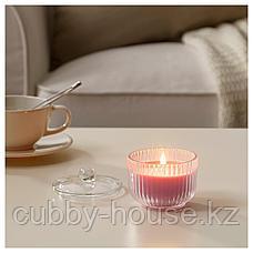 БЛОМДОРФ Ароматическая свеча в стакане, Пион, розовый, 9 см, фото 3