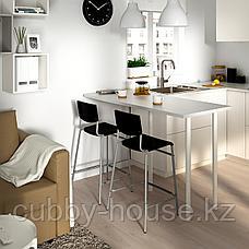СТИГ Стул барный, черный, серебристый, 63 см, фото 2