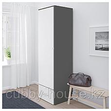 ВИСТХУС Гардероб, серый, белый, 63x59x216 см, фото 3