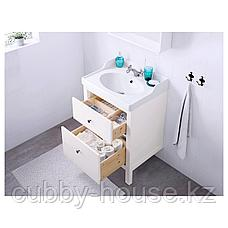 ХЕМНЭС / РЭТТВИКЕН Шкаф для раковины с 2 ящ, белый, РУНШЕР смеситель, 62x49x89 см, фото 3