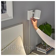 НИМОНЕ Бра/лампа для чтения, белый, фото 2