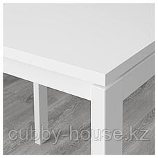 МЕЛЬТОРП / АДДЕ Стол и 4 стула, белый, черный, 125 см, фото 3