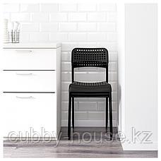 МЕЛЬТОРП / АДДЕ Стол и 4 стула, белый, черный, 125 см, фото 2