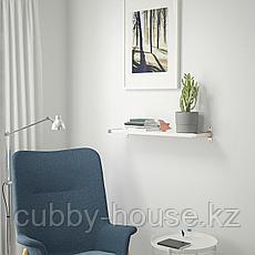 БЕРГСХУЛЬТ / ГРАНГУЛЬТ Полка навесная, белый, никелированный, 80x20 см, фото 2