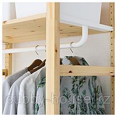 ИВАР Стеллаж с платяной штангой, 174x50x226 см, фото 3