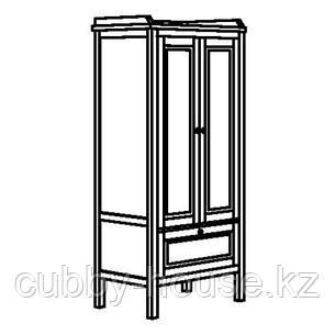 СУНДВИК Шкаф платяной, серо-коричневый, 80x50x171 см, фото 2