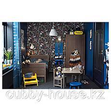 СУНДВИК Шкаф платяной, серо-коричневый, 80x50x171 см, фото 3