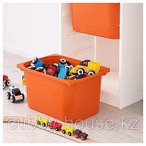 ТРУФАСТ Комбинация д/хранения+контейнеры, белый, оранжевый, 46x30x145 см, фото 2