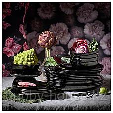 БАККИГ Тарелка десертная, черный, 18x18 см, фото 3
