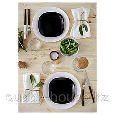 БАККИГ Тарелка десертная, черный, 18x18 см, фото 2