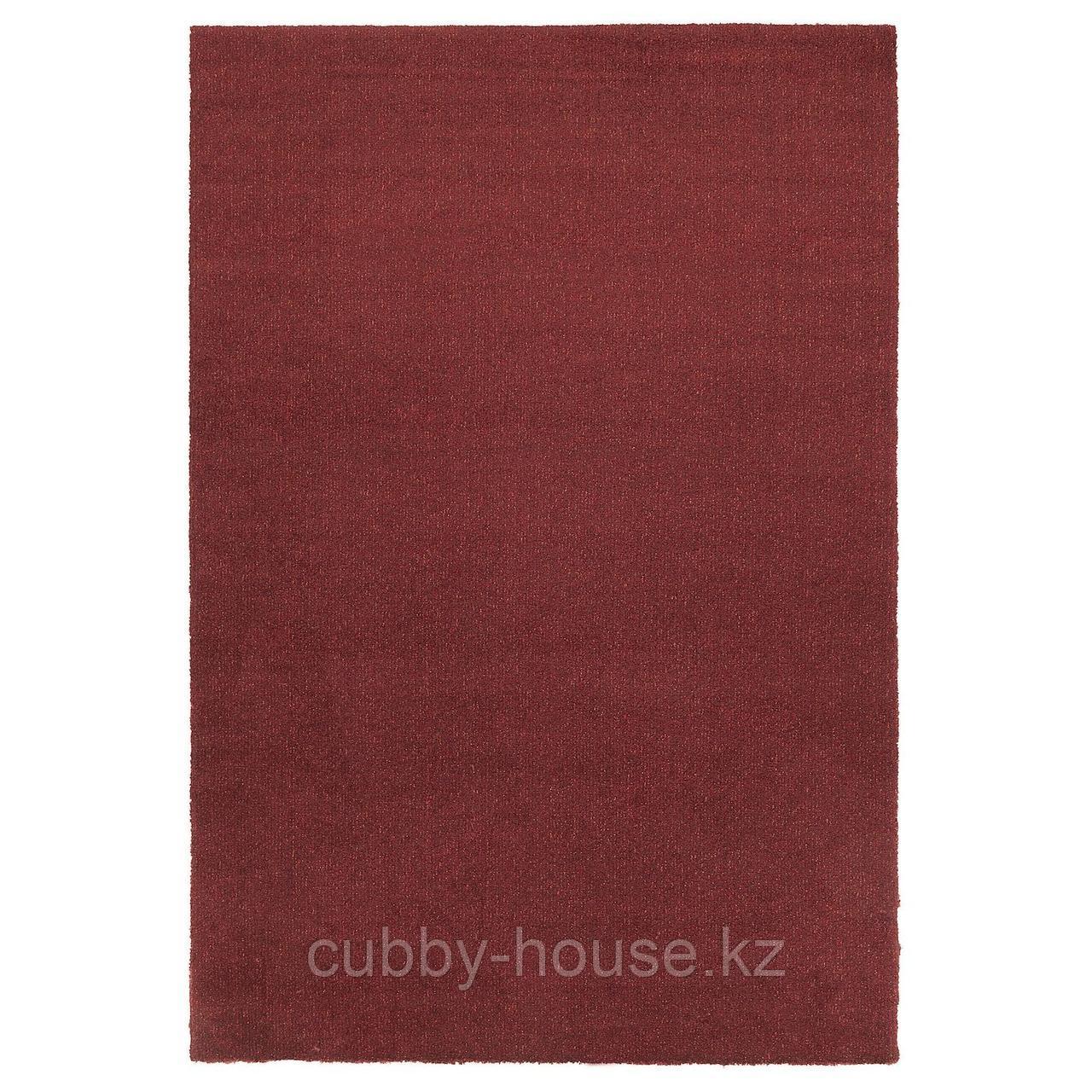 ТЮВЕЛЬСЕ Ковер, короткий ворс, темно-красный, 200x300 см