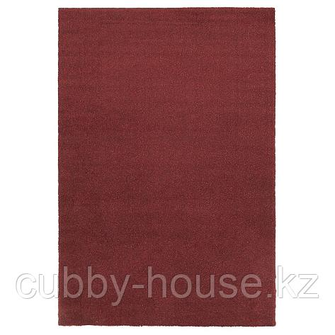 ТЮВЕЛЬСЕ Ковер, короткий ворс, темно-красный, 200x300 см, фото 2