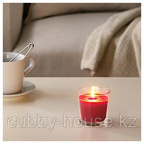 СИНЛИГ Ароматическая свеча в стакане, Красные садовые ягоды, красный, 7.5 см, фото 2